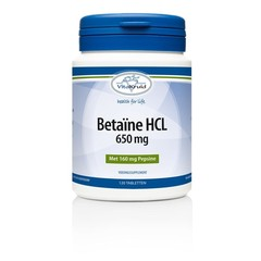 Vitakruid Betaine HCL 650 mg & pepsine 160 mg (120 tabletten)