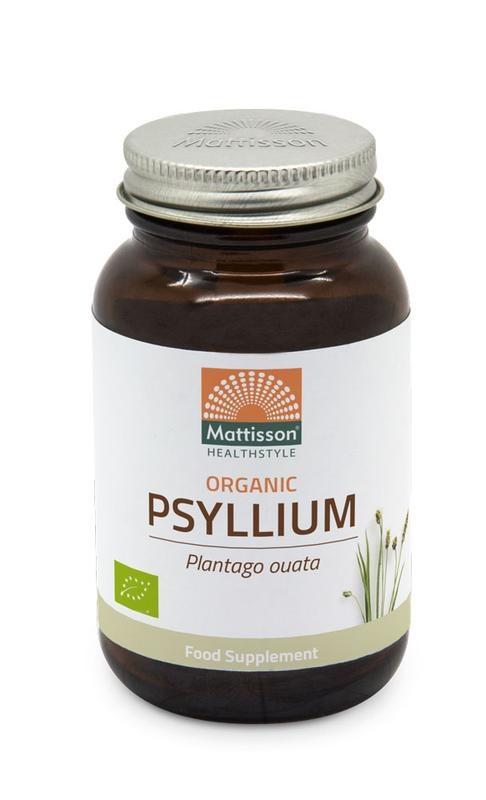 Mattisson Mattisson Psyllium Husk 750 mg biologisch (90 vcaps)