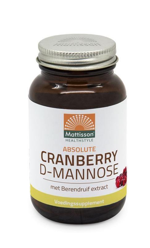 Mattisson Mattisson Cranberry D-mannose met berendruif extract (90 tabletten)