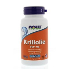 NOW Krillolie 500 mg (60 softgels)