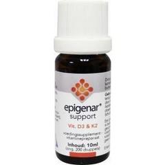 Epigenar Support vitamine D3 & K2 druppels (10 ml)
