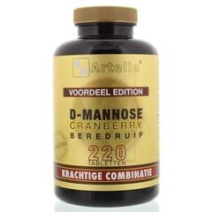 Artelle D-Mannose cranberry beredruif (220 tabletten)