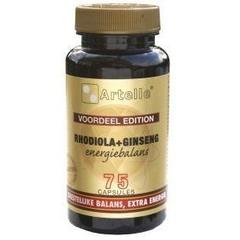 Artelle Rhodiola ginseng energiebalans (75 capsules)