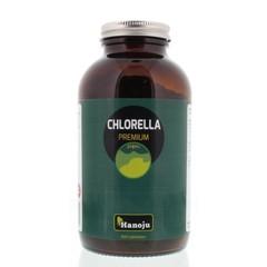 Hanoju Chlorella premium 400 mg glas flacon (800 tabletten)