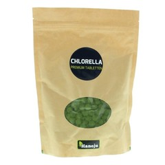 Hanoju Chlorella premium 400 mg paper bag (1250 tabletten)