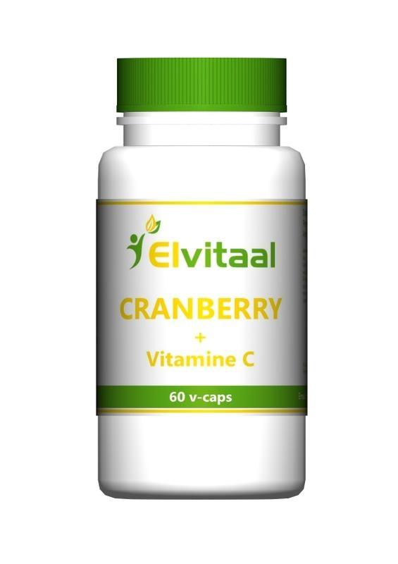 Elvitaal Elvitaal Cranberry + 60 mg vitamine c (60 vcaps)
