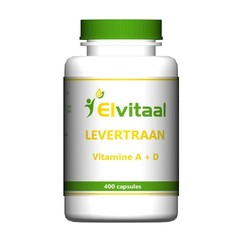 Elvitaal Levertraan A D3 (400 capsules)