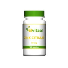 Elvitaal Zink citraat 50 mg (120 tabletten)