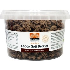 Mattisson Absolute raw chocolate goji berry bio (200 gram)