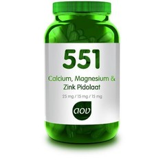 AOV 551 Calcium magnesium zink pidolaat (90 capsules)
