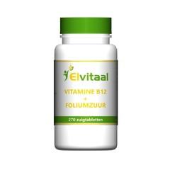 Elvitaal Vitamine B12 1000mcg + foliumzuur (270 zuigtabletten)