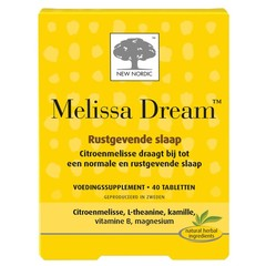 New Nordic Melissa dream (40 tabletten)