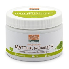Mattisson Biologische matcha powder poeder green tea (125 gram)