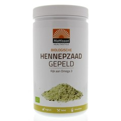 Mattisson Absolute hemp seeds hulled hennepzaad gepeld (500 gram)