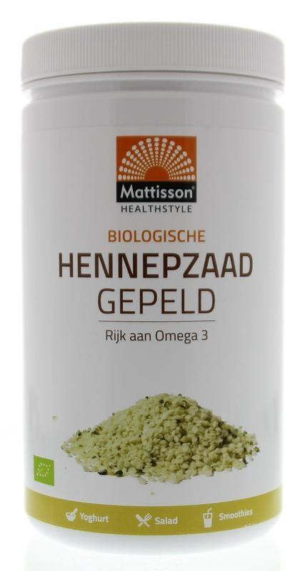 Mattisson Mattisson Absolute hemp seeds hulled hennepzaad gepeld (500 gram)