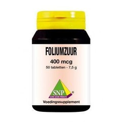 SNP Foliumzuur 400 mcg (50 tabletten)
