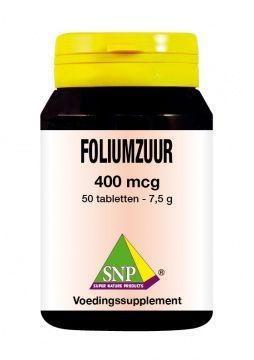 SNP SNP Foliumzuur 400 mcg (50 tabletten)