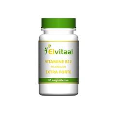 Elvitaal Vitamine B12 extra forte + foliumzuur (90 zuigtabletten)