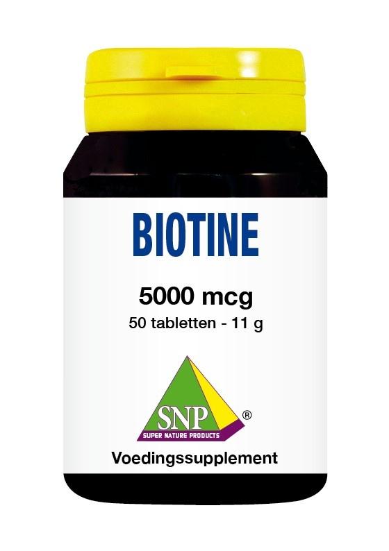 SNP SNP Biotine 5000 mcg (50 tabletten)