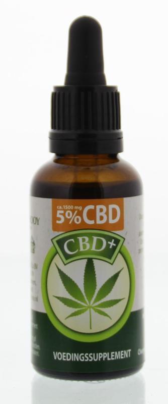 Jacob Hooy Jacob Hooy CBD plus olie 5% (30 ml)