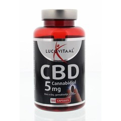 Lucovitaal Cannabidiol CBD 5 mg (180 capsules)