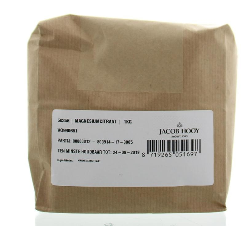 Jacob Hooy Jacob Hooy Magnesiumcitraat poeder (1 kilogram)