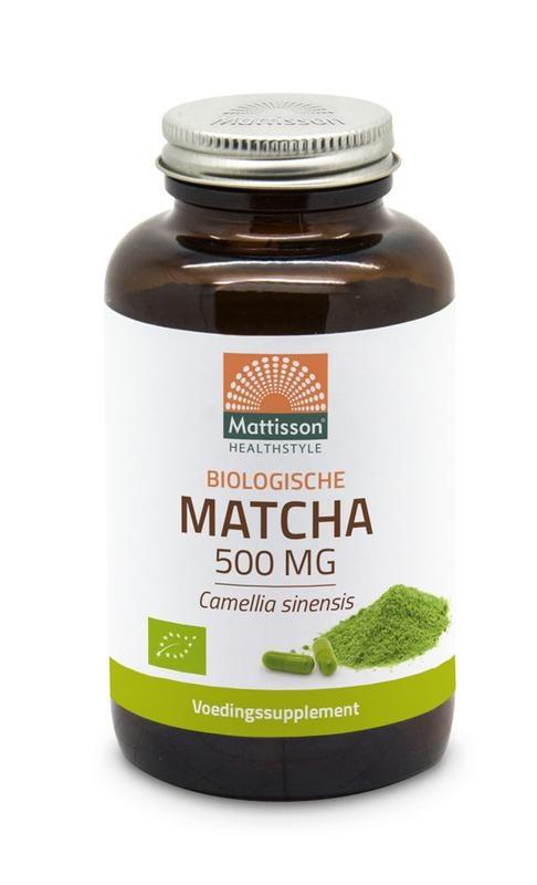 Mattisson Mattisson Matcha 500 mg camillia sinensis bio (90 vcaps)