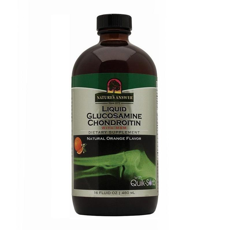 Natures Answer Vloeibaar Glucosamine & Chondroitine (met MSM) (480 ml)