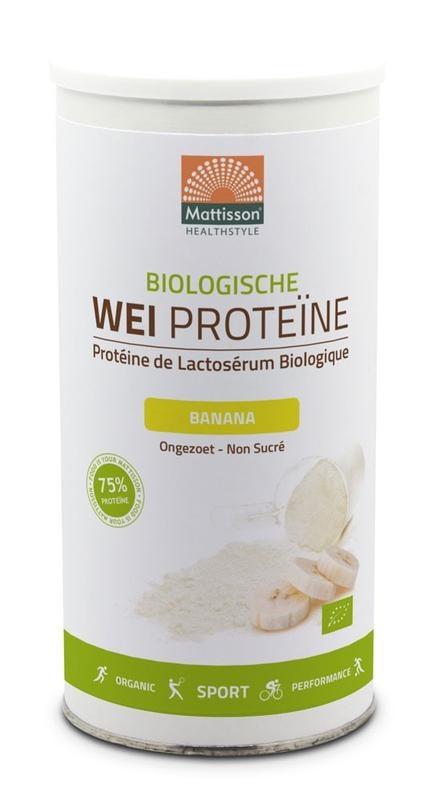 Mattisson Mattisson Bio wei whey proteine banaan 75% (450 gram)