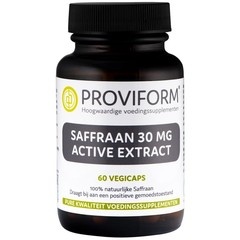 Proviform Saffraan 30 mg active extract (60 vcaps)