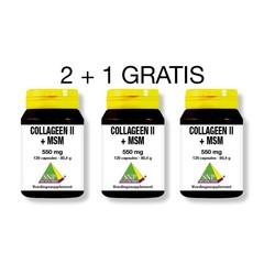 SNP Collageen II +msm 2+1 gratis (360 capsules)