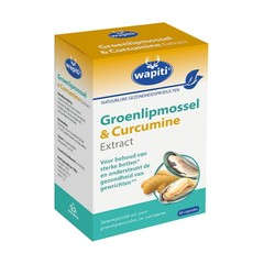 Wapiti Groenlipmossel & curcuma (60 capsules)