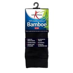 Lucovitaal Bamboe sok lang zwart 35-38 (1 paar)