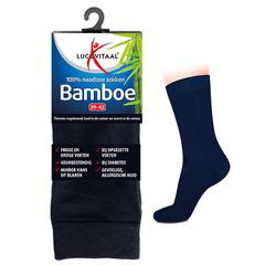 Lucovitaal Bamboe sok lang blauw 35-38 (1 paar)