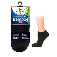 Lucovitaal Bamboe enkelsok zwart 35-38 (1 paar)