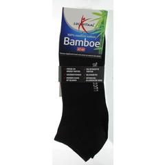 Lucovitaal Bamboe enkelsok zwart 47-50 (1 paar)
