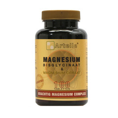 Artelle Magnesium bisglycinaat & citraat (100 tabletten)