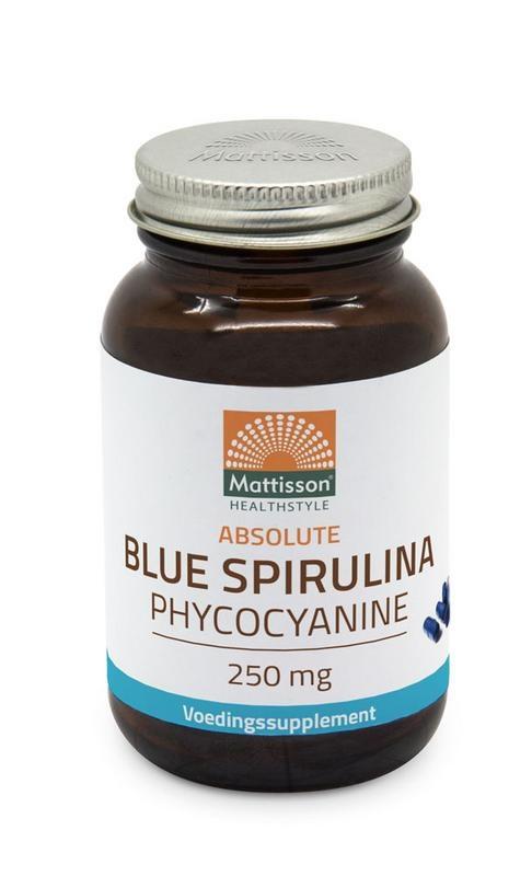 Mattisson Mattisson Blauwe blue spirulina fytoblue phycocyanine (30 vcaps)
