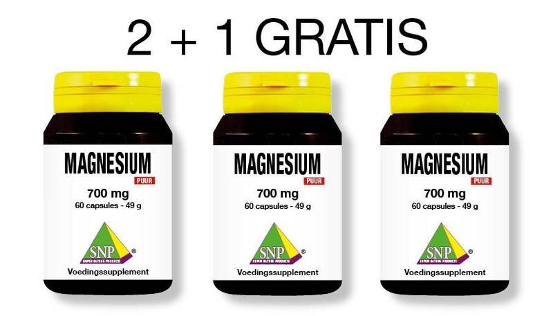 SNP SNP Magnesium 700 mg puur 2 + 1 gratis (180 capsules)