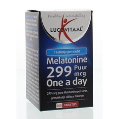 Lucovitaal Melatonine puur 0.299 mg (500 tabletten)