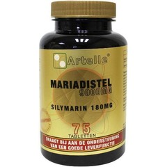 Artelle Mariadistel 9000 mg silymarin 180 mg (75 tabletten)