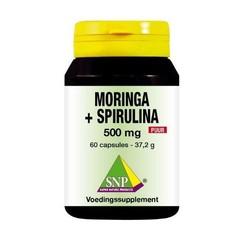 SNP Moringa & spirulina 500 mg puur (60 capsules)
