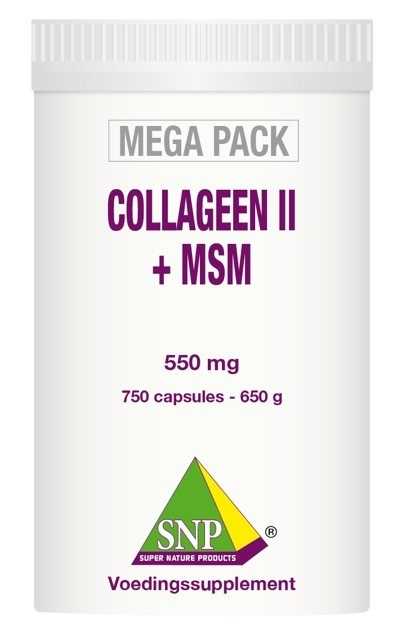 SNP SNP Collageen II + MSM megapack (750 capsules)