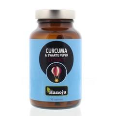 Hanoju Curcuma poeder & zwarte peper extract (90 capsules)