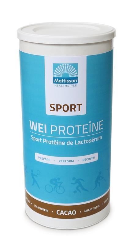 Mattisson Mattisson Sport wei whey proteine concentraat cacao (450 gram)
