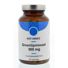 Best Choice Groenlipmossel 500 mg (60 capsules)
