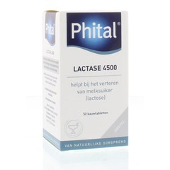 Phital Lactase 4500 (50 kauwtabletten)