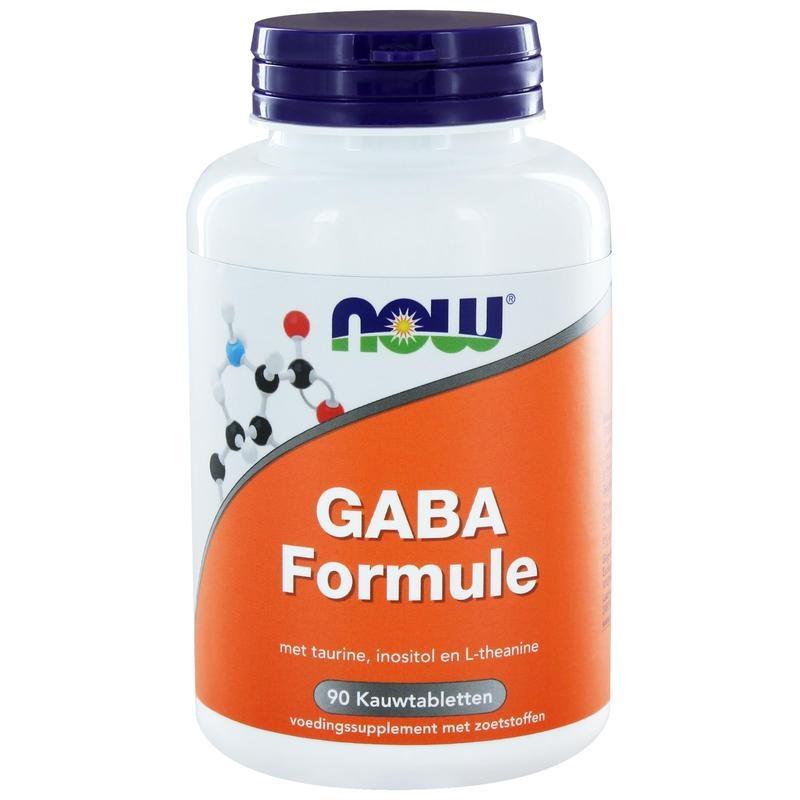 NOW GABA formule (90 kauwtabl)