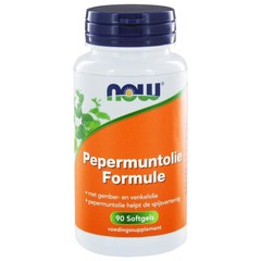 NOW Pepermuntolie formule (90 softgels)