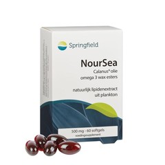 Springfield NourSea calanusolie omega 3 wax esters (60 softgels)